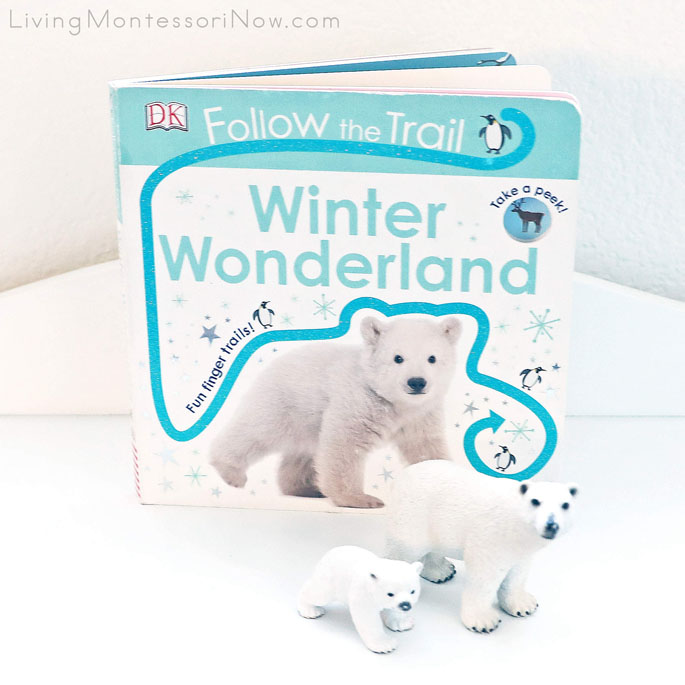 Follow the Trail: Winter Wonderland Book with Schleich Polar Bear and Cub