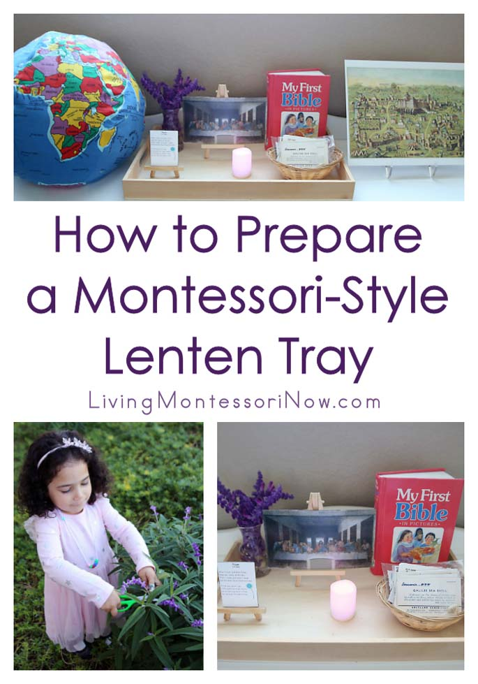How to Prepare a Montessori-Style Lenten Tray