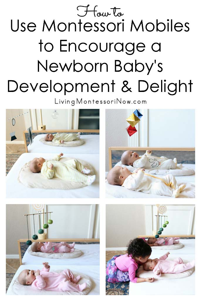 How to Use Montessori Mobiles to Encourage a Newborn Baby's Development & Delight