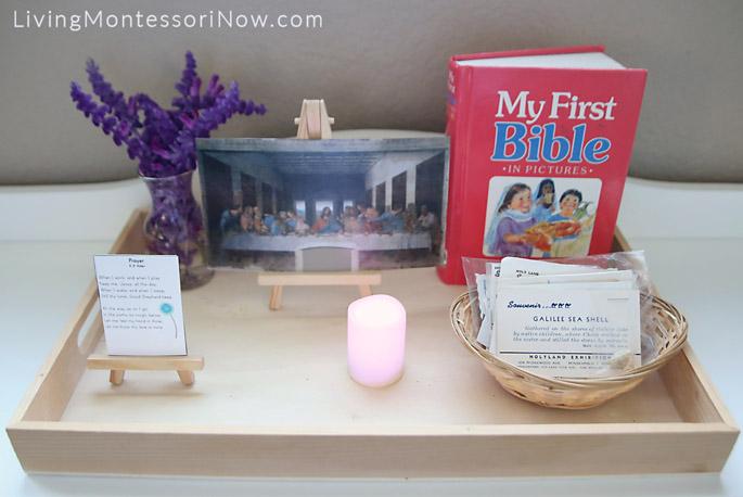 Montessori-Style Lenten Tray
