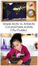 Simple Arctic vs. Antarctic Cut-and-Paste Activity {Free Printables} – Montessori Monday
