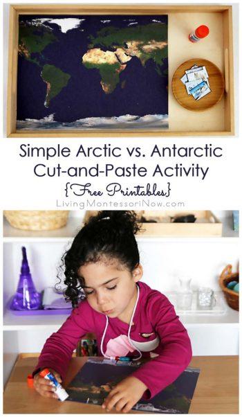 Simple Arctic vs. Antarctic Cut-and-Paste Activity {Free Printables}