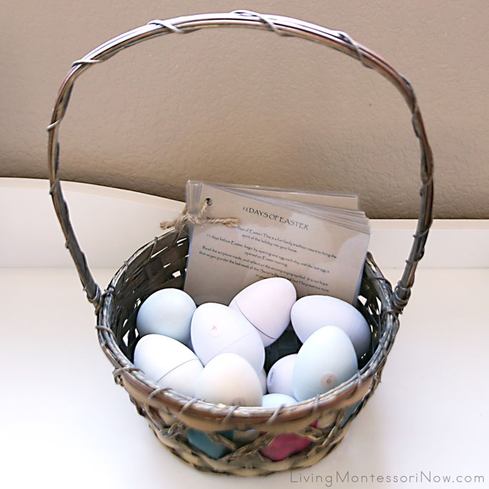 12 Days of Easter Wooden Eggs