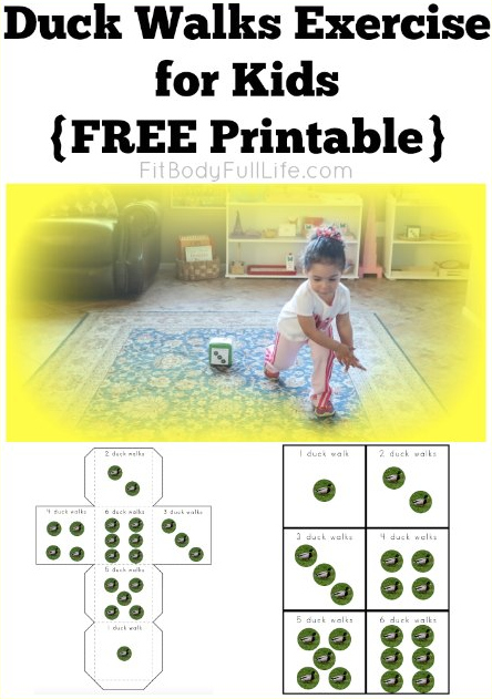 Duck Walks Exercise for Kids {Free Printable} from ChristinaChitwood.com