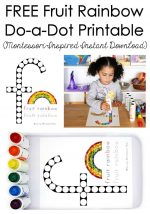 FREE Fruit Rainbow Do-a-Dot Printable (Montessori-Inspired Instant Download) – Montessori Monday