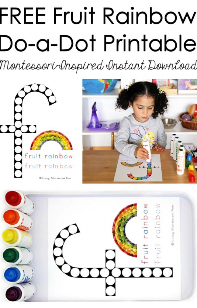 FREE Fruit Rainbow Do-a-Dot Printable (Montessori-Inspired Instant Download)