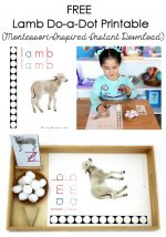FREE Lamb Do-a-Dot Printable (Montessori-Inspired Instant Download) – Montessori Monday