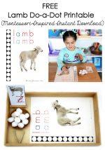 FREE Lamb Do-a-Dot Printable (Montessori-Inspired Instant Download) – Montessori Monday