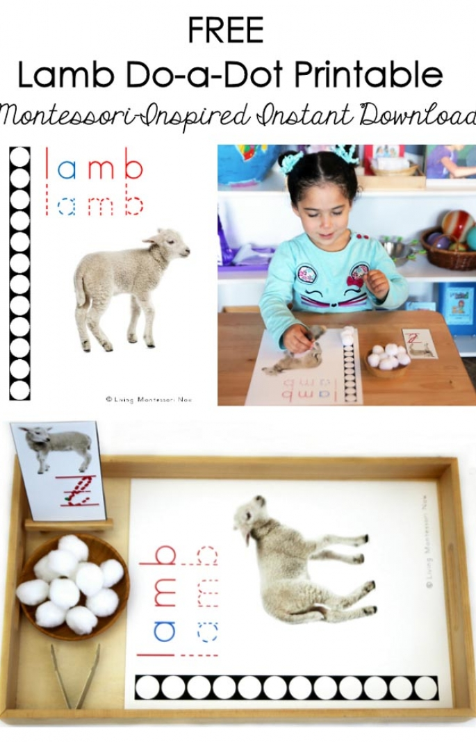FREE Lamb Do-a-Dot Printable (Montessori-Inspired Instant Download)