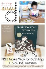 FREE Make Way for Ducklings Do-a-Dot Printable (Montessori-Inspired Instant Download)