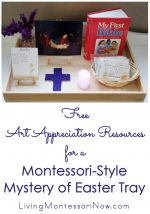 Free Art-Appreciation Resources for a Montessori-Style Mystery of Easter Tray