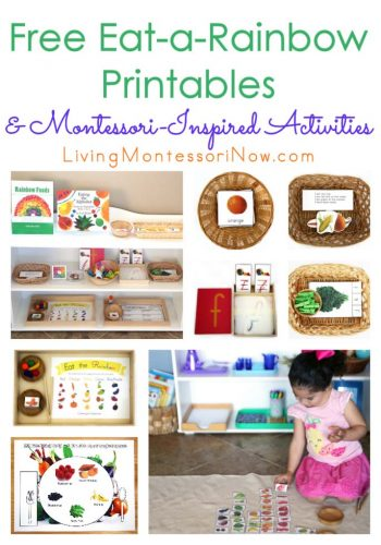 Free Eat-a-Rainbow Printables and Montessori-Inspired Activities