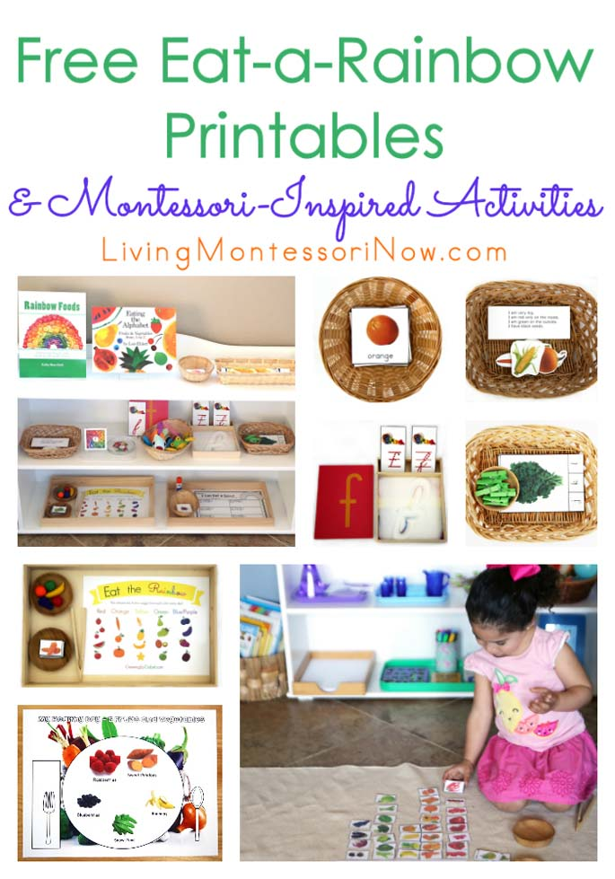Free Eat A Rainbow Printables And Montessori Inspired Activities