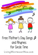 Free Mother's Day Songs and Rhymes for Circle Time