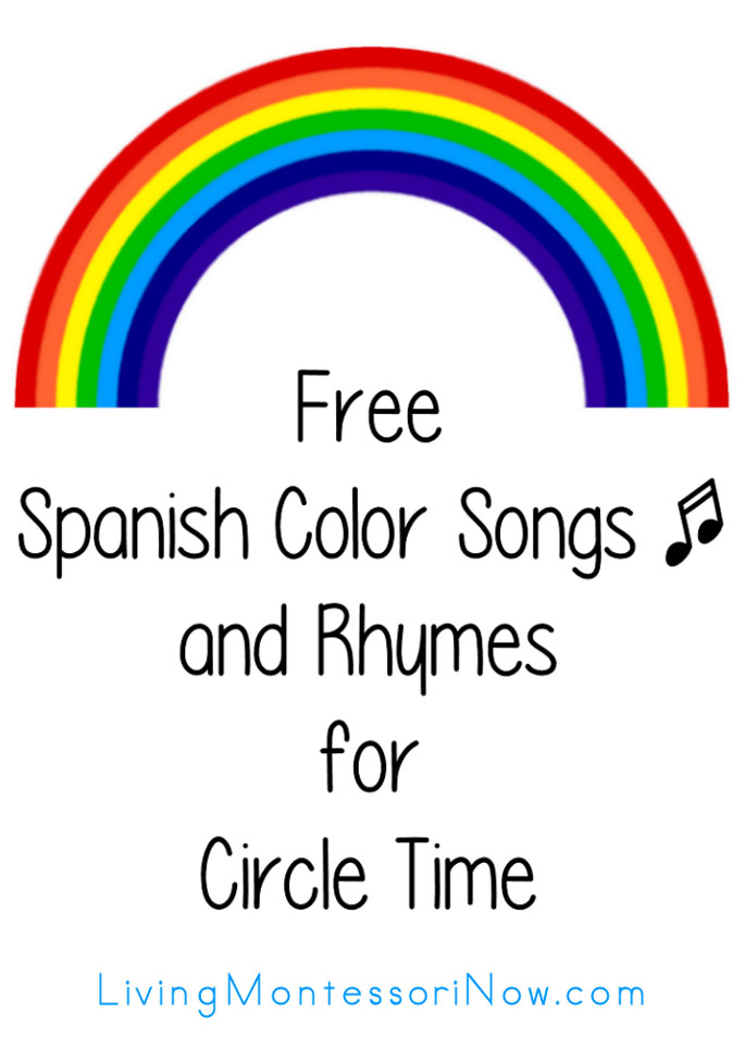 Free Spanish Color Songs and Rhymes for Circle Time