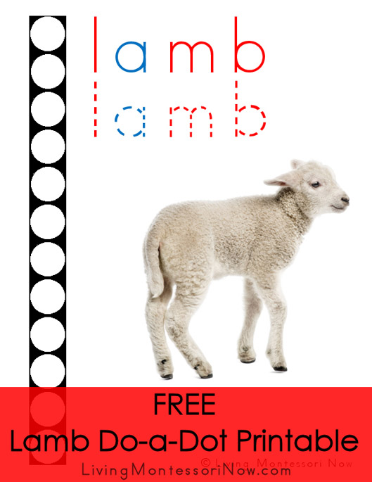 FREE Lamb Do-a-Dot Printable (Montessori-Inspired Instant ... Multicraft