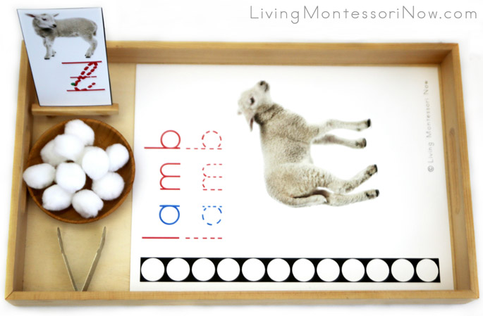 Lamb Letter L Do-a-Dot Printable and Pom Pom Transfer