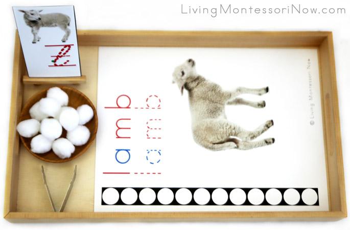 Lamb Letter L Do-a-Dot Printable and Pom Pom Transfer