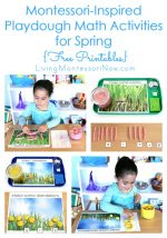 Montessori-Inspired Playdough Math Activities for Spring {Free Printables}