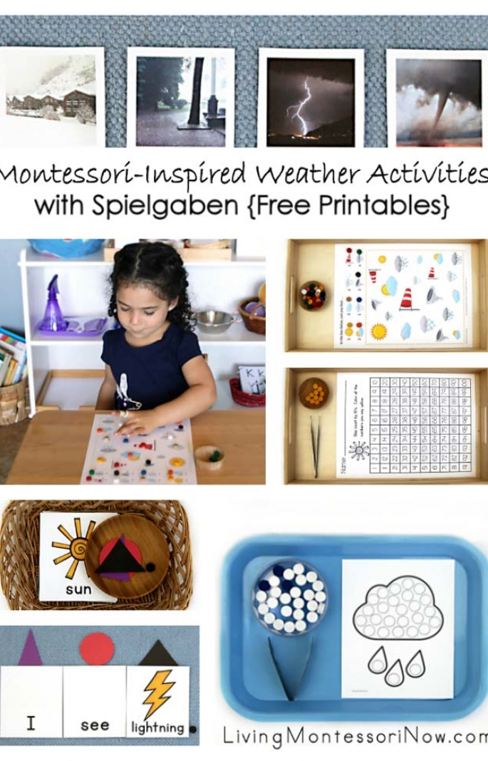 Montessori-Inspired Weather Activities with Spielgaben {Free Printables}