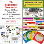 7th Blogiversary Giveaway – Montessori Print Shop Deluxe CD Rom Collection (ARV $800)!!!