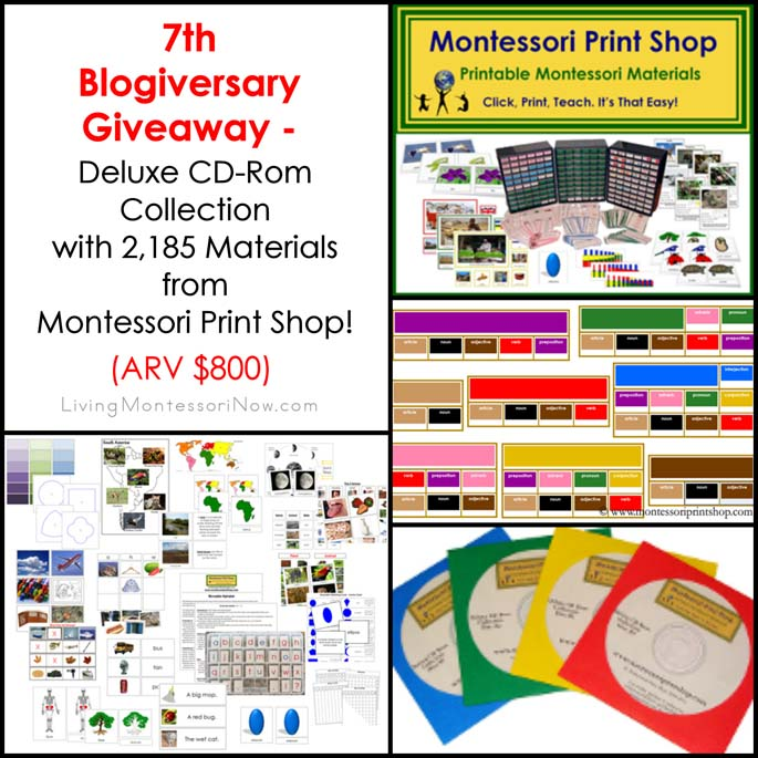 7th Blogiversary Giveaway - Montessori Print Shop Deluxe CD Rom Collection (ARV $800)!!!
