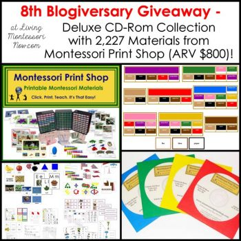 8th Blogiversary Giveaway - Montessori Print Shop Deluxe CD Rom Collection (ARV $800)