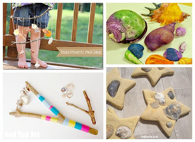 Crafts Made with Beach Treasures