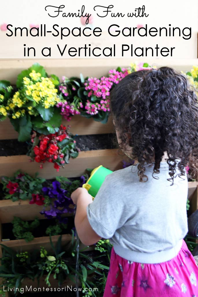 Family Fun with Small-Space Gardening in a Vertical Planter