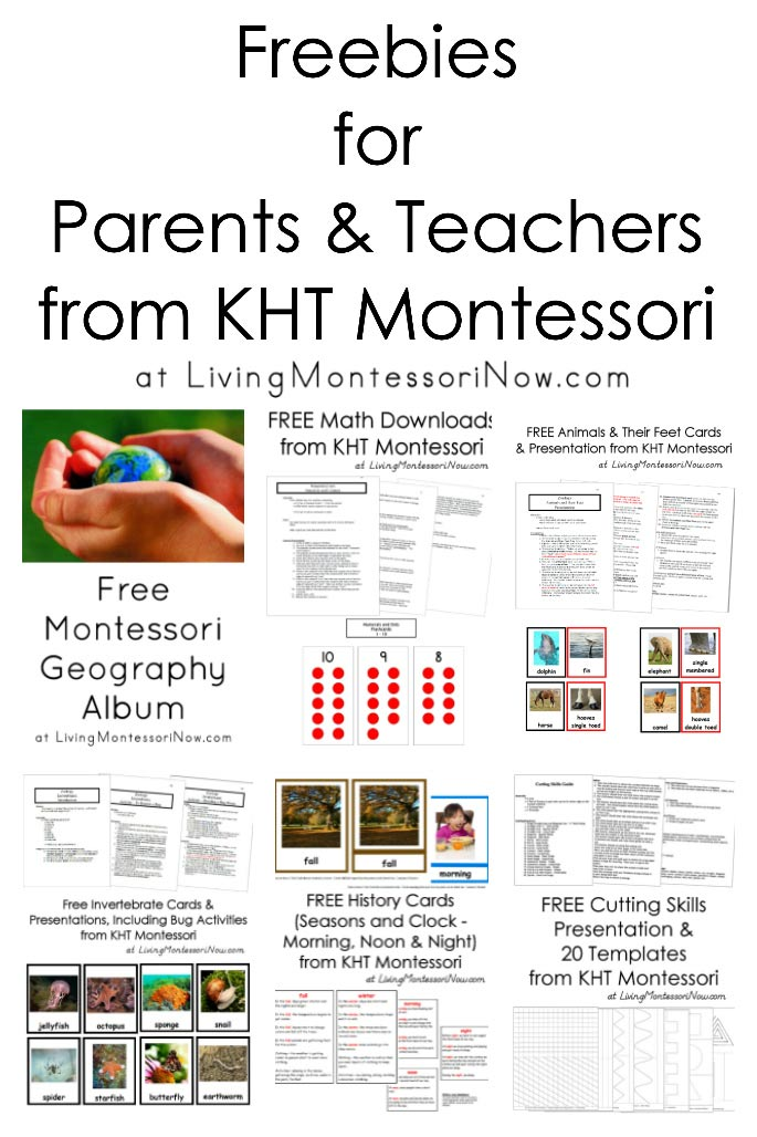 Freebies for Parents and Teachers from KHT Montessori