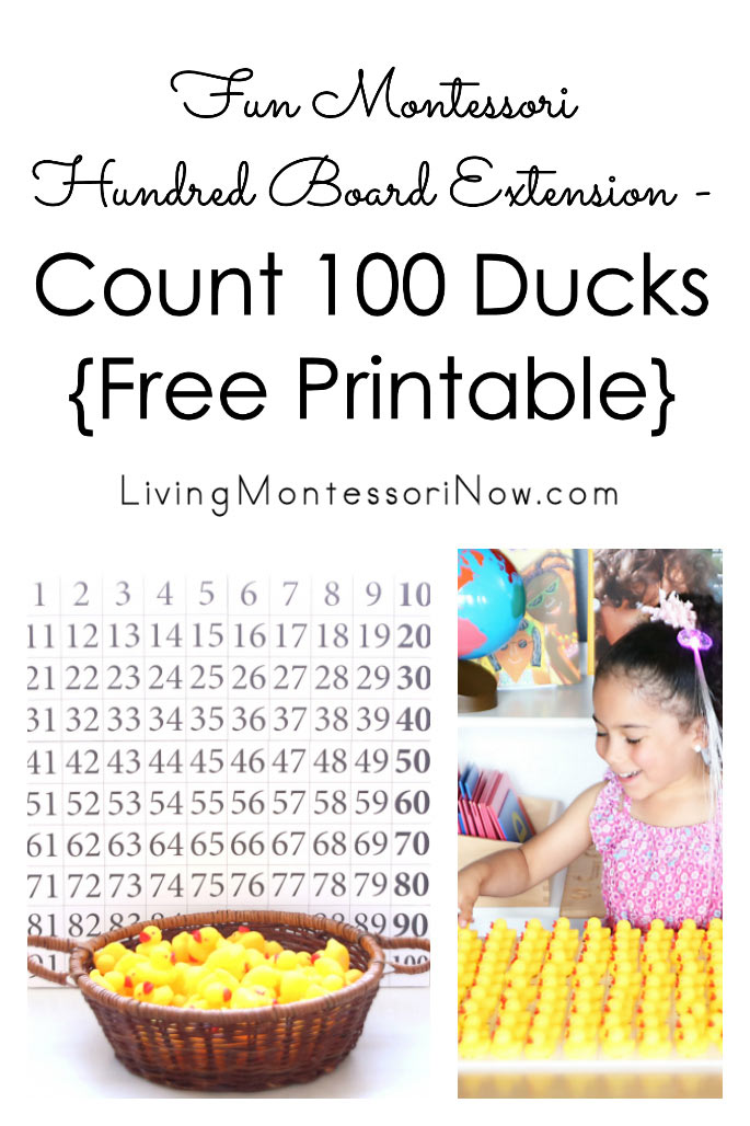 Fun Montessori Hundred Board Extension - Count 100 Ducks {Free Printable}