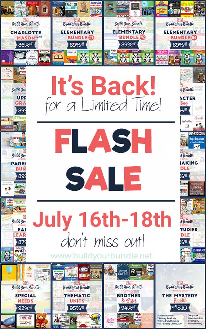 Build Your Bundle Flash Sale July 16-18!