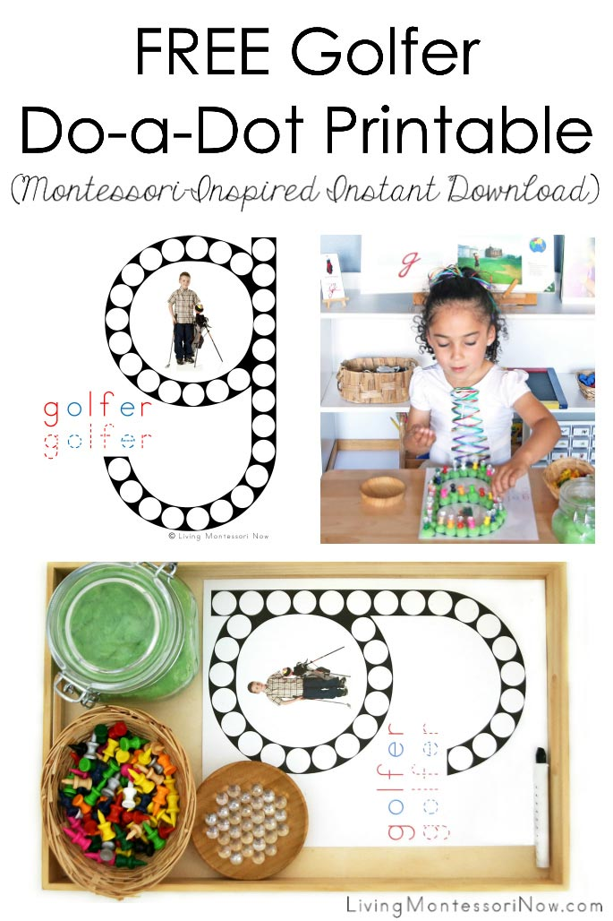 FREE Golfer Do-a-Dot Printable (Montessori-Inspired Instant Download)