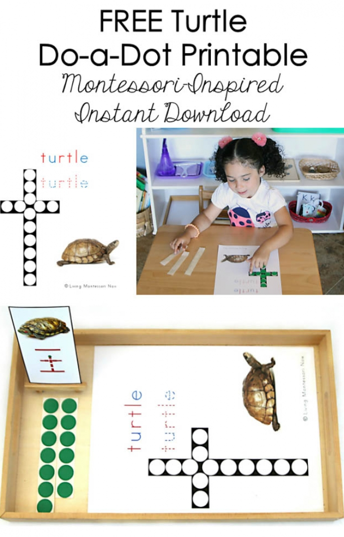 FREE Turtle Do-a-Dot Printable (Montessori-Inspired Instant Download)