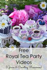 Free Royal Tea Party Videos {Grace and Courtesy Resources}