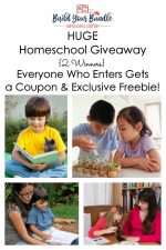 HUGE Homeschool Giveaway, Exclusive Freebie, and Coupon Code {Build Your Bundle, Homeschool Edition}!
