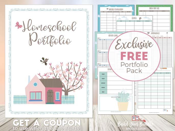 Homeschool Portfolio - Exclusive Free Portfolio Pack