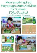 Montessori-Inspired Playdough Math Activities for Summer {Free Printables}