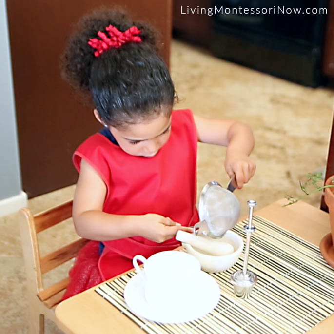 Adding Rinsed Peppermint Leaves to Mortar and Pestle