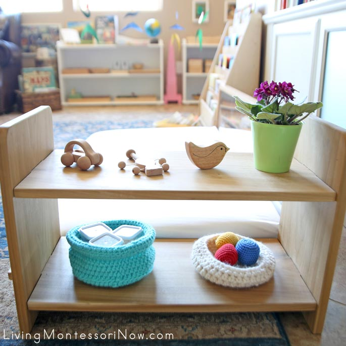 Baby Shelves in Montessori Home Living Room