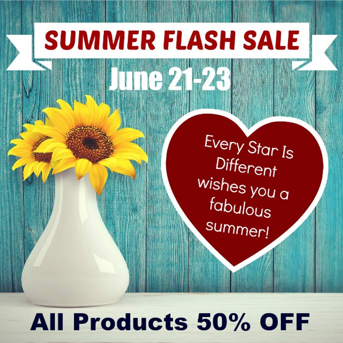 Every Star Is Different 50% Off Summer Flash Sale