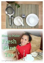 Fabulous Practical Life: How to Make Fresh Mint Tea {Montessori Monday}