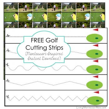 Free Golf Cutting Strips (Montessori-Inspired Instant Download)