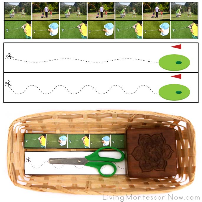 Golf Cutting Strips with Basket