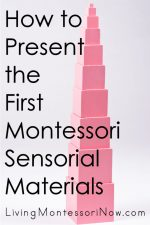 How to Present the First Montessori Sensorial Materials