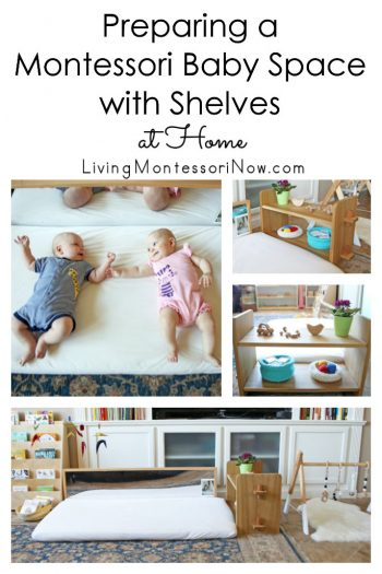 Preparing a Montessori Baby Space with Shelves at Home