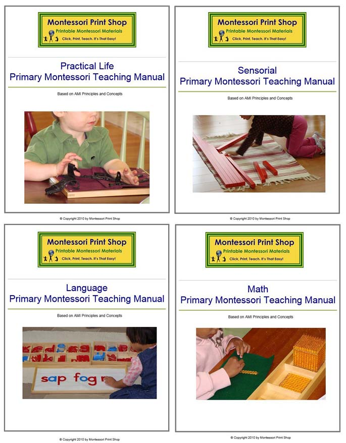 Primary Teaching Manuals from Montessori Print Shop