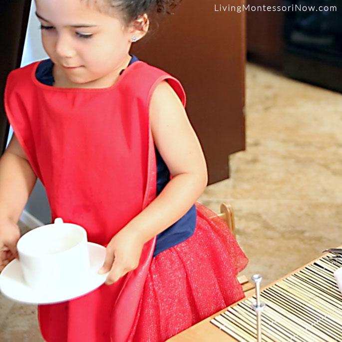 Serving Peppermint Tea