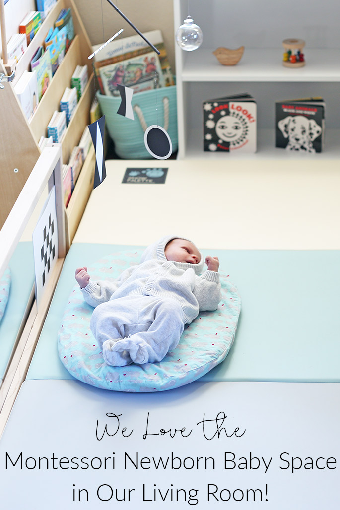 We Love the Montessori Newborn Baby Space in Our Living Room (Photo from Christina Chitwood)