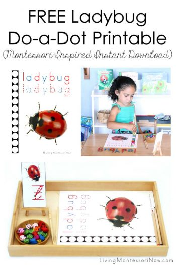 Free Ladybug Do-a-Dot Printable